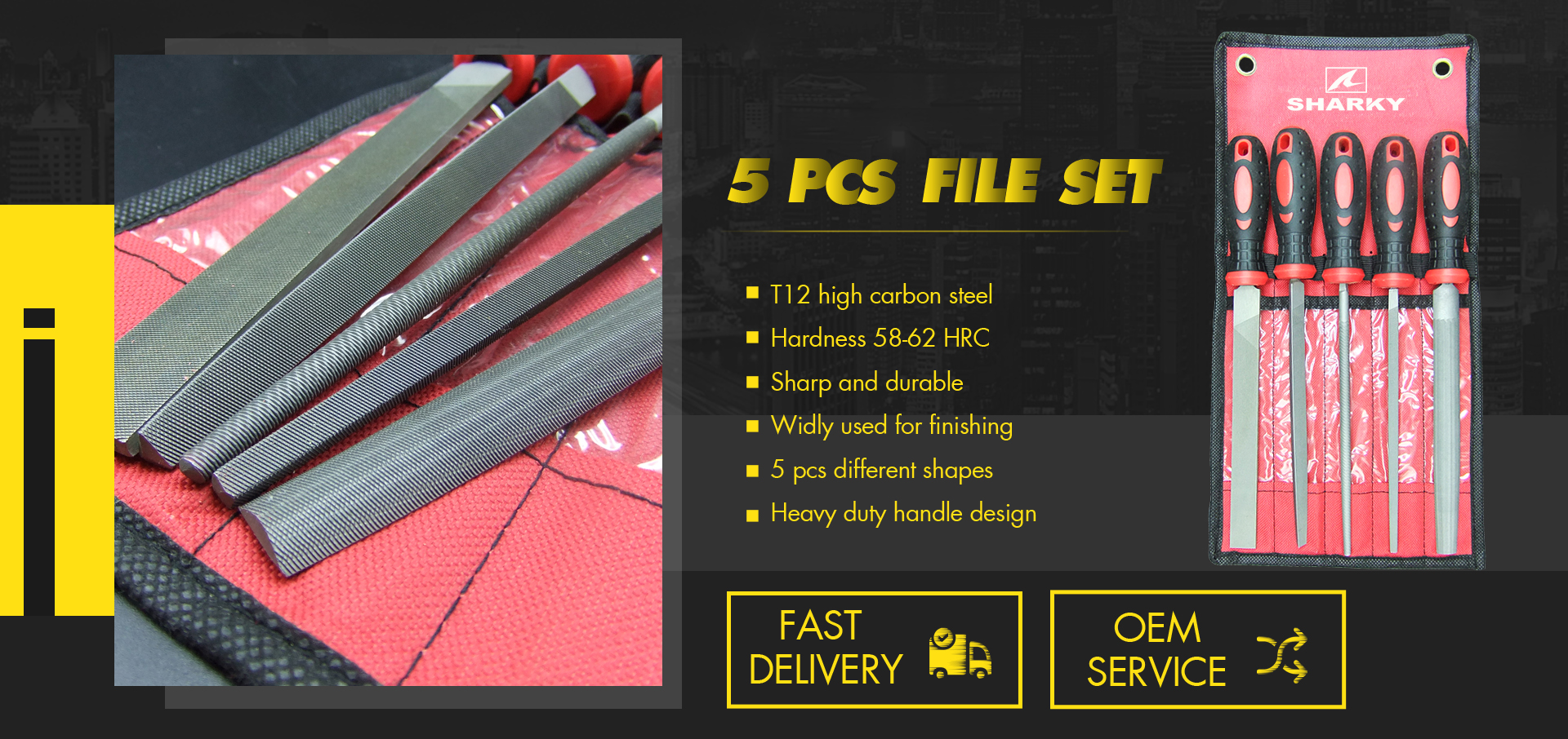 5 pcs engineer's file set