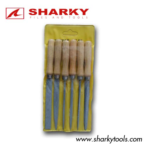 6pcs key files set with wooden handle