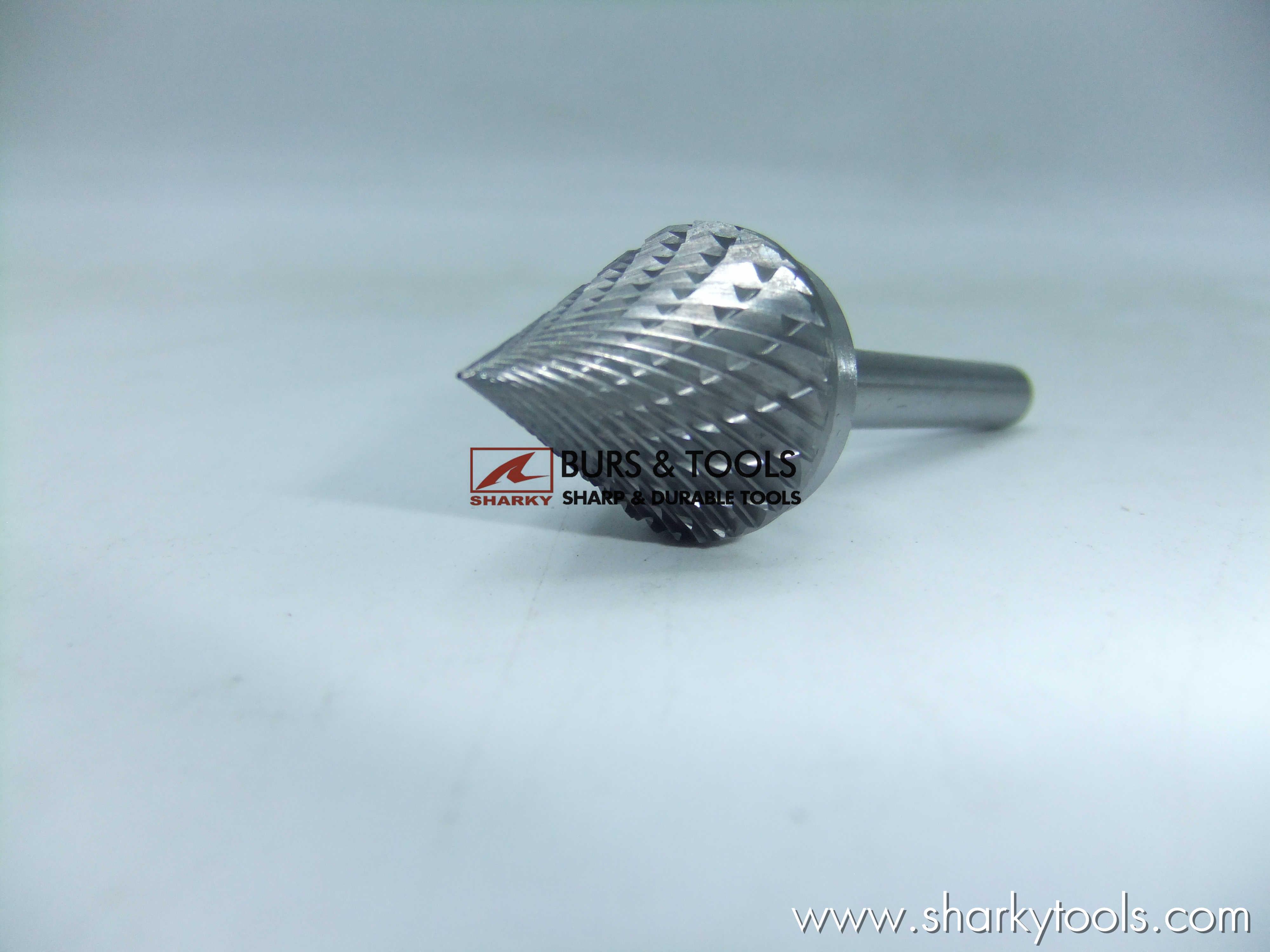 carbide burs J type, 60 degree conical