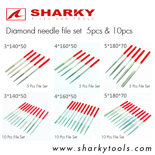 diamond needle file set 5pcs and 10 pcs