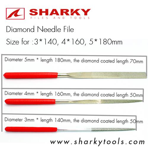 diamond needle files sizes